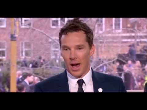 Benedict Cumberbatch  King Richard III Reburial