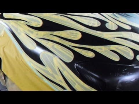 How to custom paint Tribal Flames カスタムペイント・トライバル塗装&キャンディー塗装