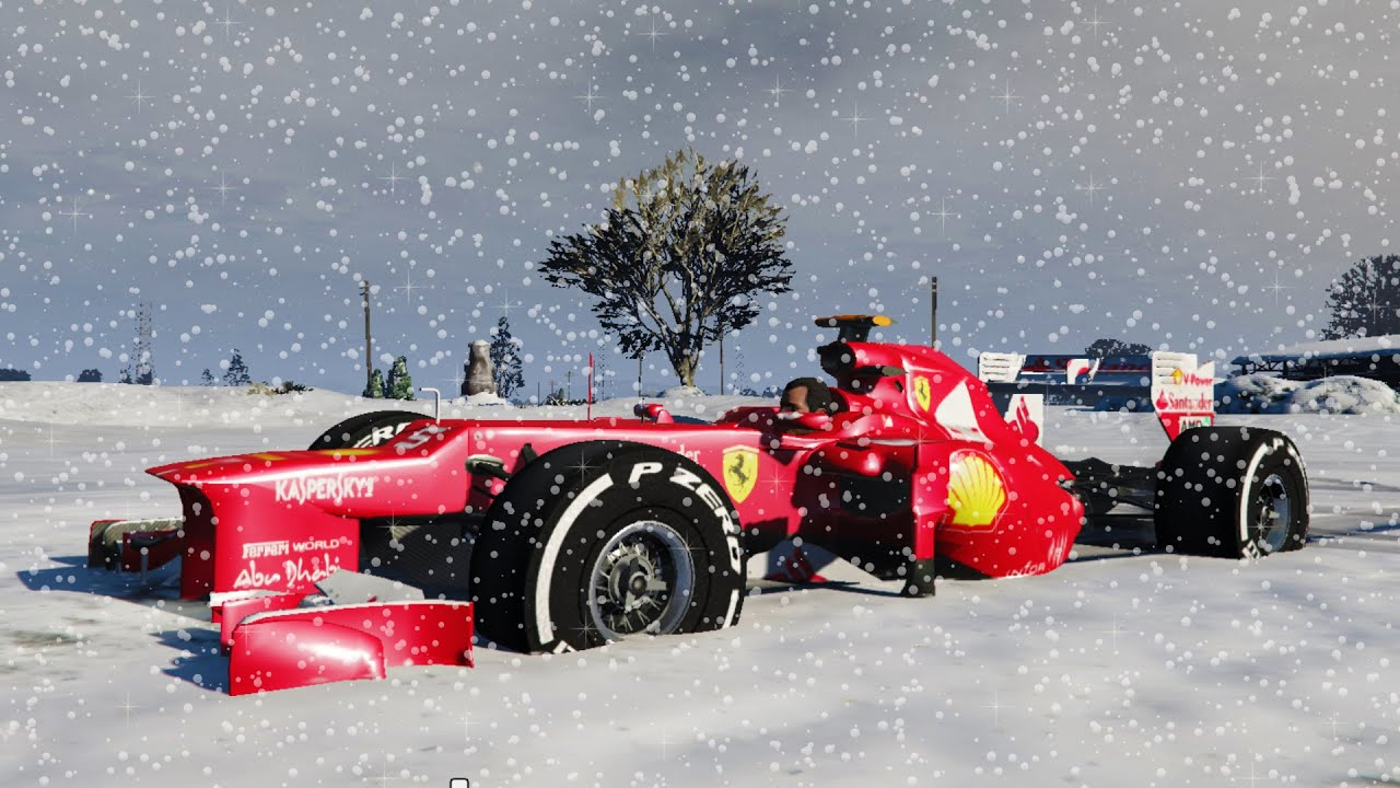 F1 CAR IN SNOW!!! - MERRY CHRISTMAS!!! - YouTube