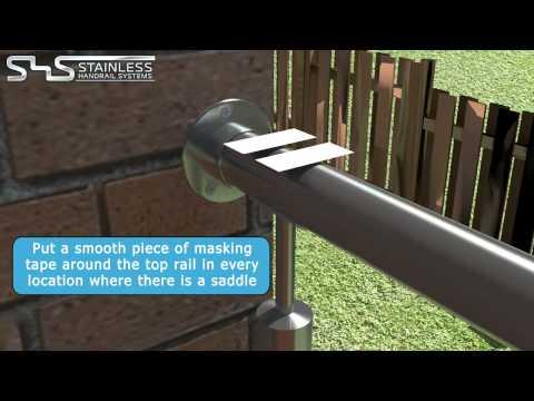 033RS Последовательность монтажа балконного ограждения с заполнениев в три троса