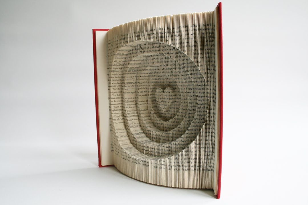 Book Folding Tutorial Heart And Circles Youtube