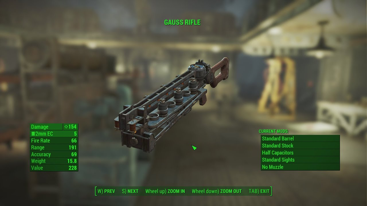 the gauss rifle The gauss rifle is a weapon in fallout 4 the gauss rifle appears to be a crude prototype compared to earlier iterations from fallout 2, fallout 3 and fallout: new vegas.