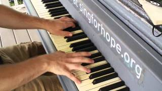brian lawlor plays sing for hope piano in ft totten