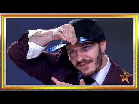 ¡Se lleva un pase de oro doblando tenedores con su mente! | Audiciones 1 | Got Talent España 2019