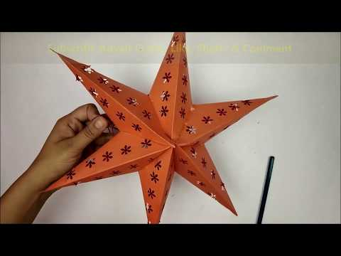 Akash Kandil Making At Home For Diwali | Diwali/Christmas Decoration Ideas | DIY Akash Kandil