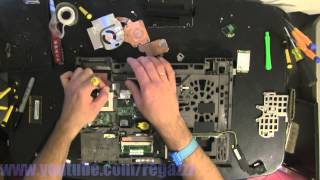 LENOVO T500 take apart video, disassemble, how to open disassembly