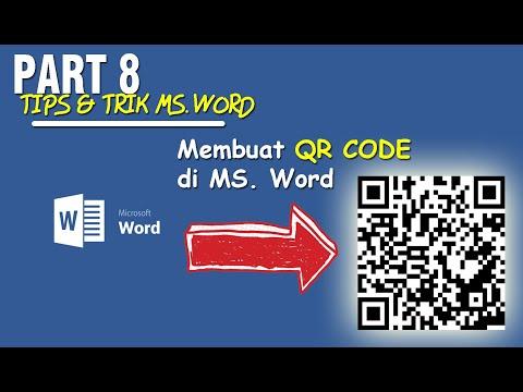 Cara Membuat QR Code pada Mail Merge Microsoft Word.