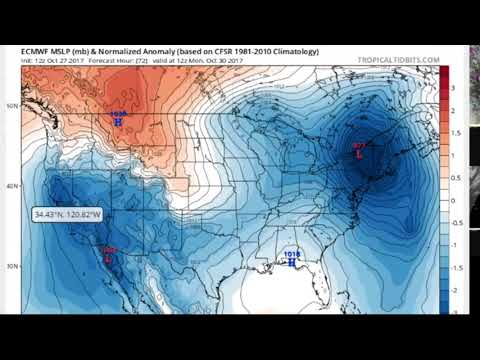 Major Storm  - Eastern United States  - October 29th, 2017