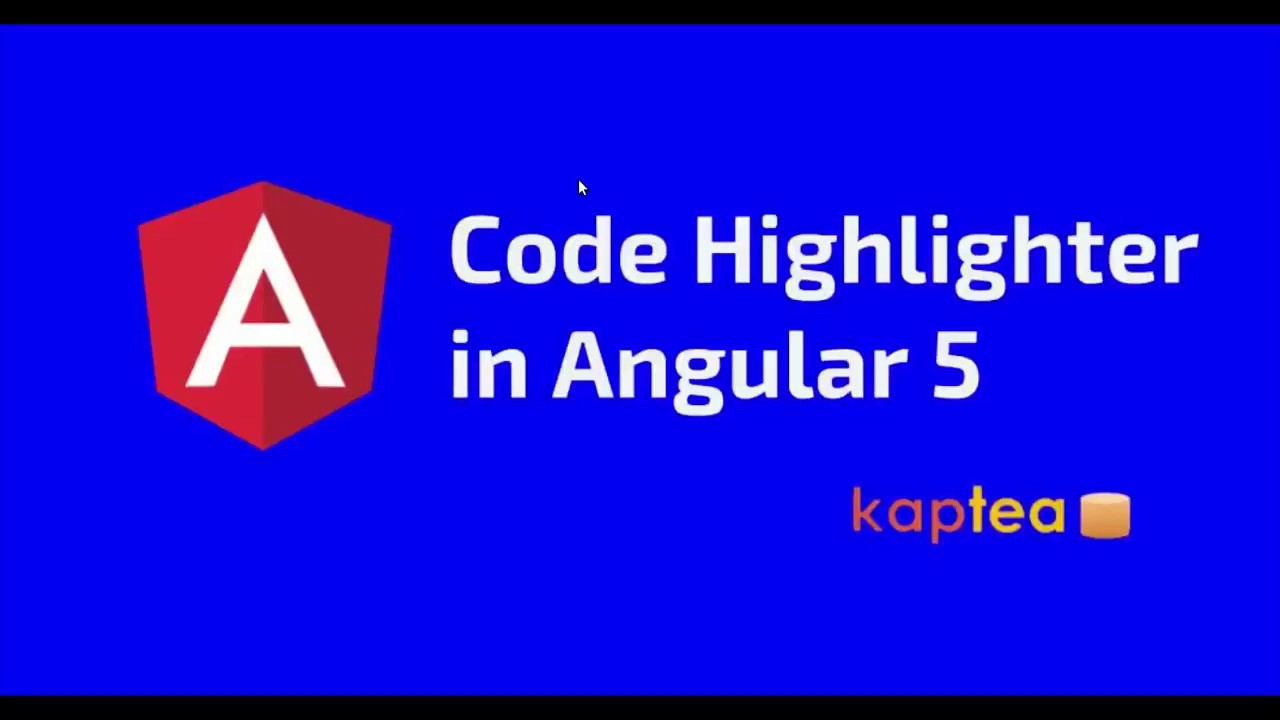 Source Code highlighter in Angular 5