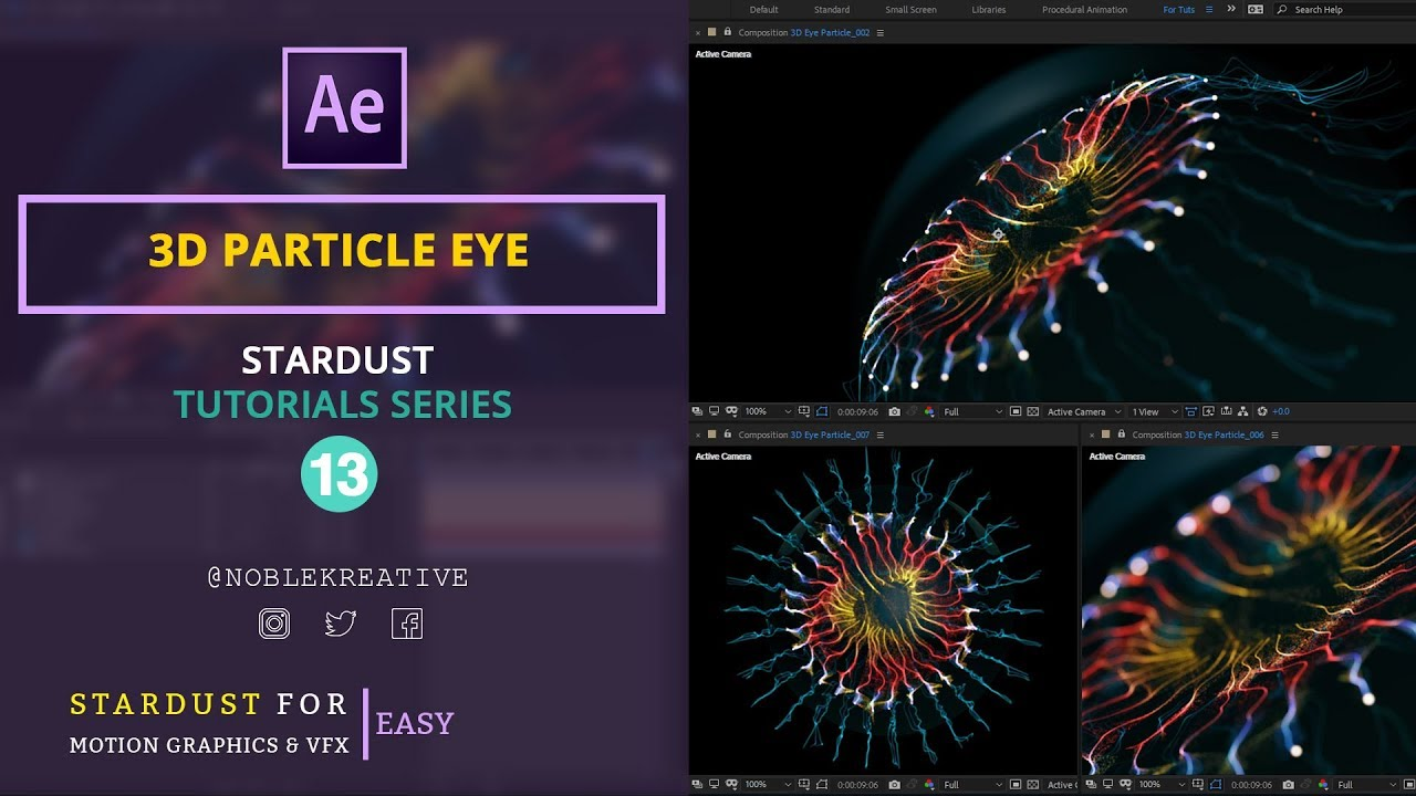 3D Particle Eye in After Effects | Easy