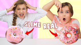 Real Food vs Slime Food Switch Up Challenge!!! | JKrew