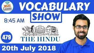 8:45 AM - Daily The Hindu Vocabulary with Tricks (20th July, 2018) | Day #479