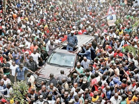 Raila Supporters MARCH in THOUSANDS to JKIA to Receive BABA.Huge RECEPTION Awaiting Raila.