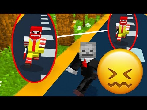 Being CHASED by Evil Ronald McDonald in Minecraft! (IT'S OVER)