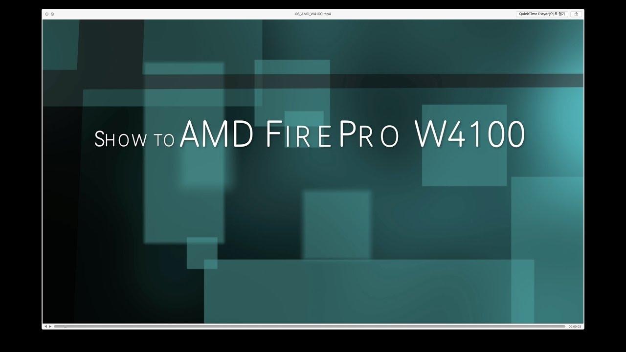 Amd Firepro W4100 오픈박스 Youtube