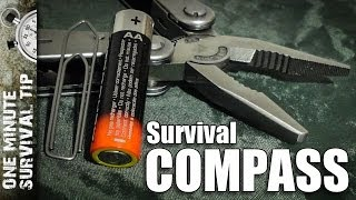 Survival Compass - one minute survival tip