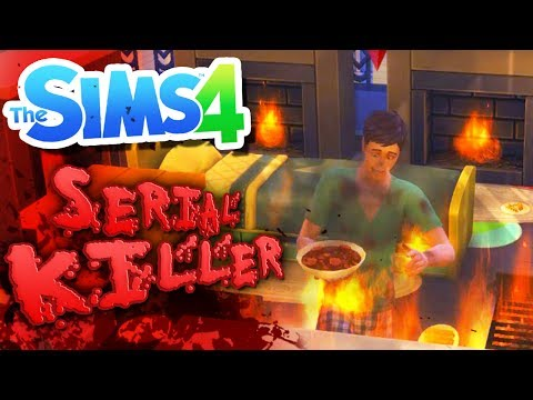 MY HOUSE IS ON FIRE! | Sims 4 Serial Killer Challenge