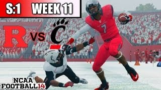 NCAA Football 14 | Dynasty | S:1 | Week 11 VS Cincinnati