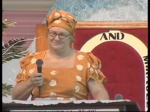 white woman sings Yoruba song (ose  baba)