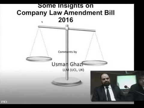Lahore High Court Presentation on Companies' Bill, 2016