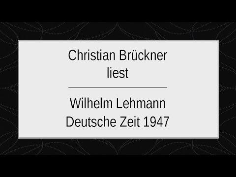 """Wilhelm Lehmann """"Deutsche Zeit 1947"""""""
