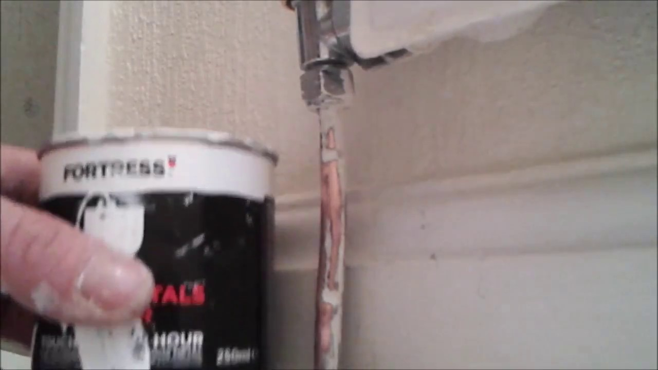 painting copper pipes using fortress special metals primer. Black Bedroom Furniture Sets. Home Design Ideas
