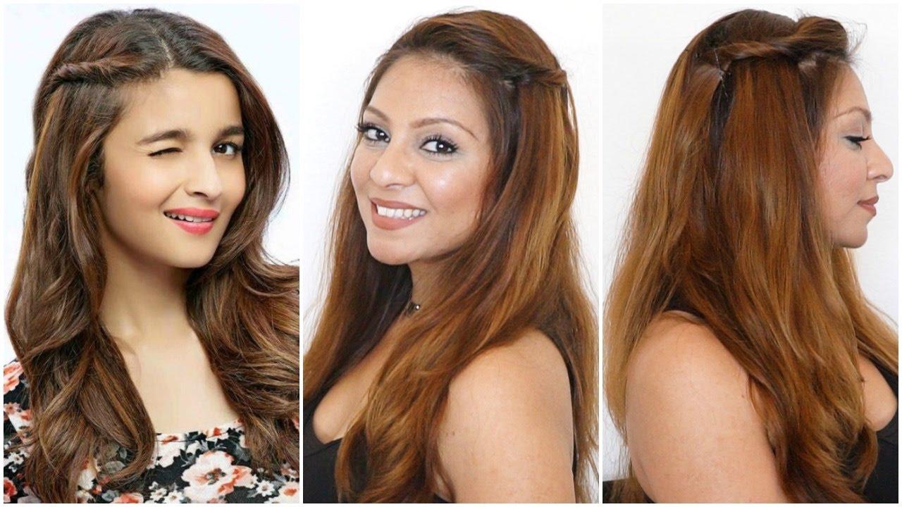 cute & easy side twist hairstyle │alia bhatt hair tutorial │diy hairstyles for medium hair long hair