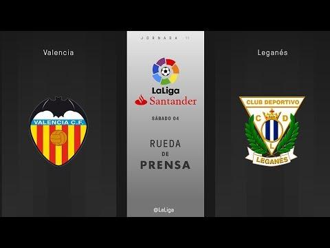 Rueda de prensa Valencia vs Leganés