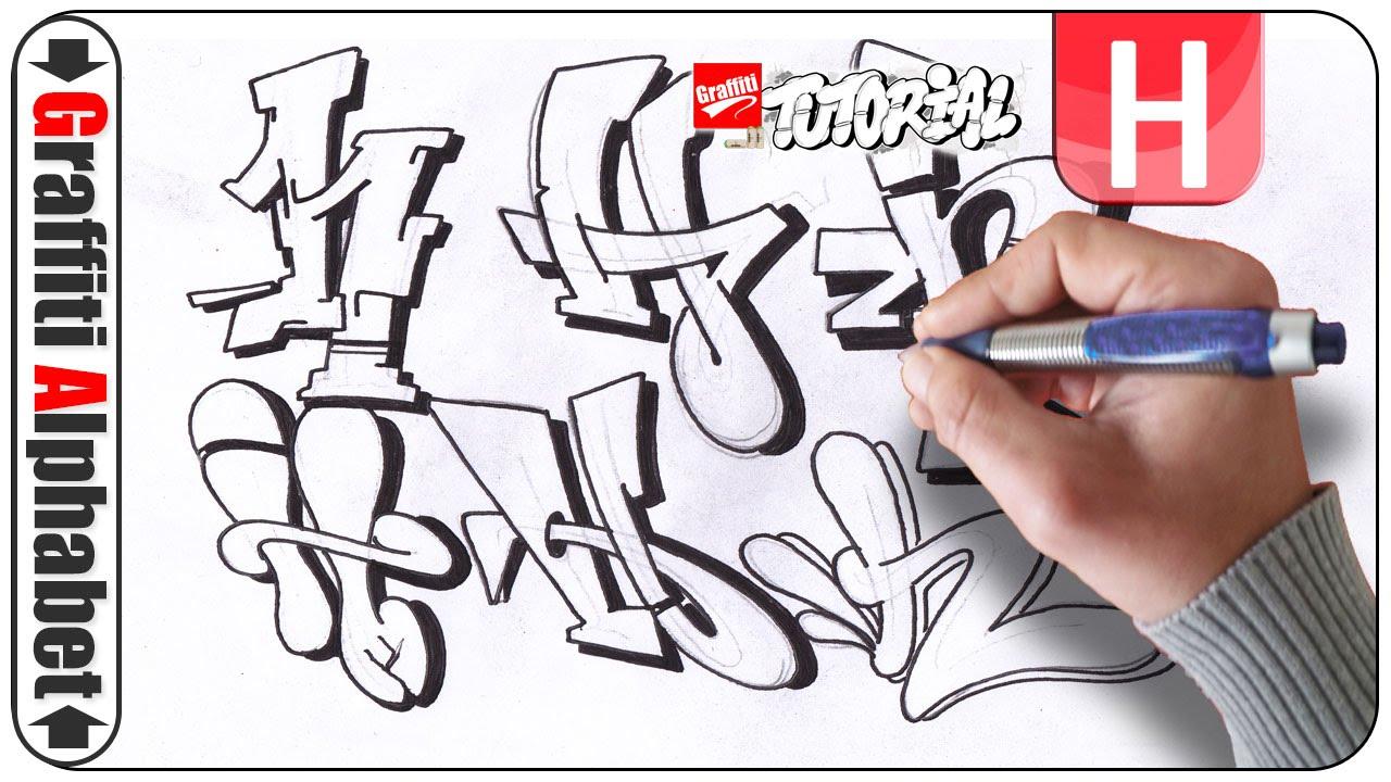 Graffiti Alphabet Buchstabe H Letra H Letter H Youtube