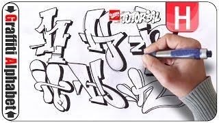 Graffiti Alphabet - Buchstabe H - Letra H - Letter H