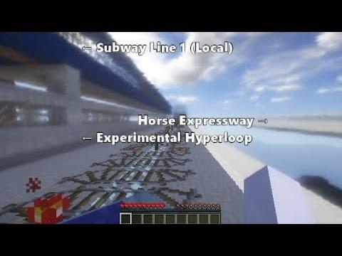[Minecraft] Subway Line 1 Express (Westbound) × Optifine SEUS Shader (500-sub Special)