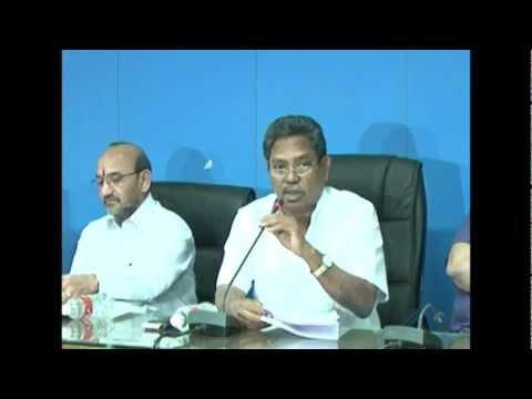 WTC 2012 - Minister Vatti Vasanth Kumar's Meeting With Higher Officials