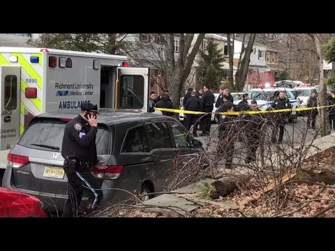 Raw footage after NYPD involved shooting on Staten Island