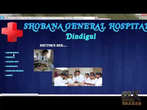 Final Year Projects Hospital Management System Youtube