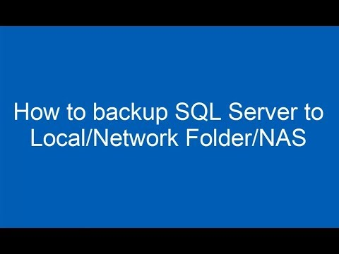 How to backup SQL Server to Local/Network Folder/NAS