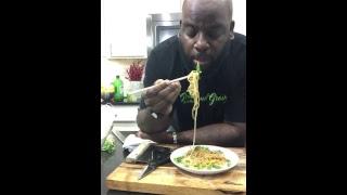 Day 4: Vegan Sesame Noodles and Spring Rolls