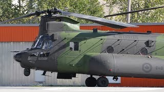 CH 147F CH 47 Chinook Helicopter Engine Startup and Takeoff