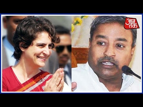 Priyanka Gandhi laughs at Vinay Katiyar's sexist comment