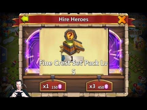 Fine Crest Set Pack Level 5 Opening + 25k Gem Rolls For Anubis Castle Clash