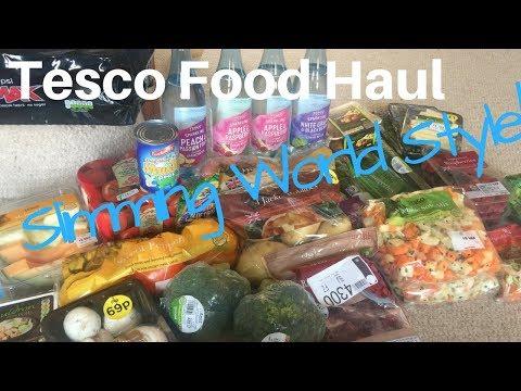 Tesco Food Haul Slimming World Style !