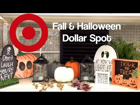 YES!! New Fall & Halloween Decor Target Dollar Spot Shop With Me!