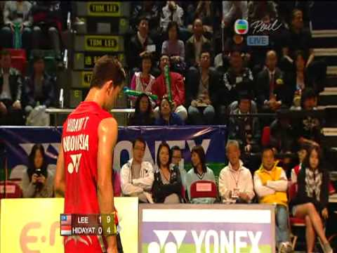 2010 Hong Kong Open MS Final Lee Chong Wei VS Taufik Hidayat