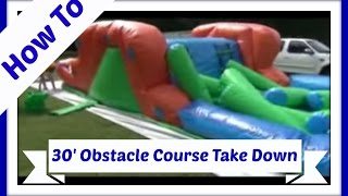How to Roll Up Our 30' Backyard Obstacle Course