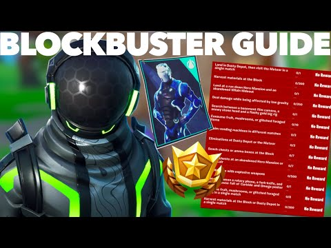 How To Complete The Blockbuster Challenges FAST In Fortnite Season 10 | Fortnite Blockbuster GUIDE