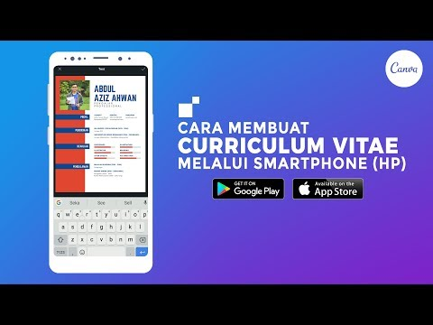 Cara Membuat CV Portofolio Keren di HP Smartphone Android iOS - Canva.com [ Tutorial Indonesia ]