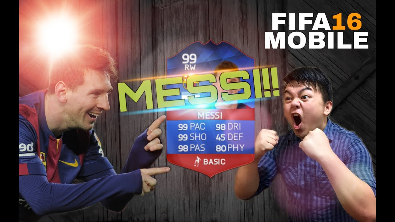 fifa 16 mobile ios android i got messi youtube. Black Bedroom Furniture Sets. Home Design Ideas