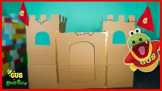 Let's Build a Box Fort Challenge! Pretend Playtime Adventures!