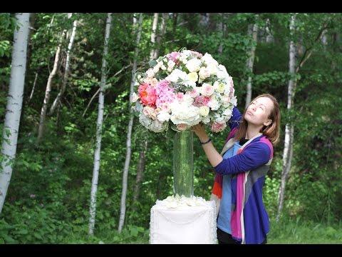 Композиции из цветов. Оформление свадьбы. backstage