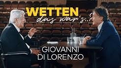 Wetten, das war's.? Frank Elstner trifft Giovanni di Lorenzo