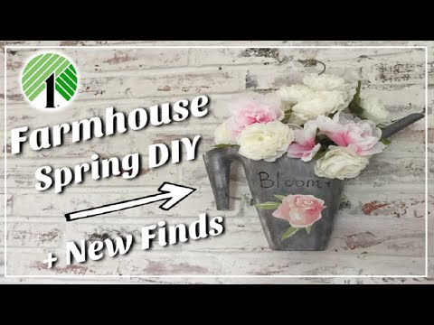 Dollar Tree DIY Spring Farmhouse Decor + New Finds | Momma From Scratch